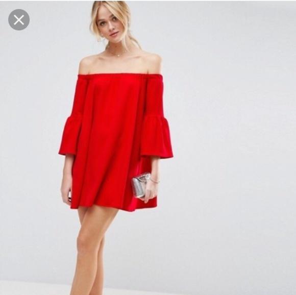 0c49b251a7a ... the shoulder bell sleeve mini dress 4. NWT. ASOS.  M_5caf6adaadb58dd5a603587c. M_5caf6adcde696a096dee51e7.  M_5caf6add264a557677699ad1